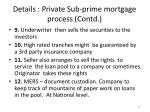 details private sub prime mortgage process contd1