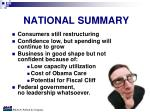 national summary
