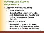 meeting legal reserve requirements3