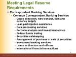 meeting legal reserve requirements8