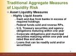traditional aggregate measures of liquidity risk1