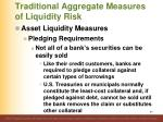 traditional aggregate measures of liquidity risk2