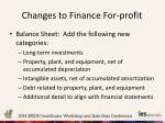 changes to finance for profit1