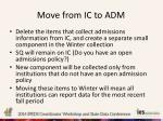 move from ic to adm