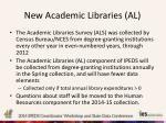 new academic libraries al