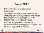 role of npec