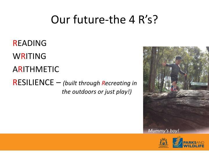 Our future-the 4 R's?