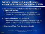 workers homeownership and business assistance act of 2009 enacted nov 6 20091