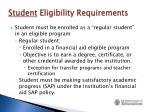 student eligibility requirements1
