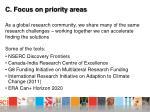 c focus on priority areas