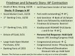 friedman and schwartz story m s contraction