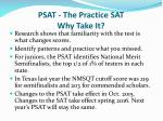 psat the practice sat why take it