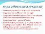 what s different about ap courses
