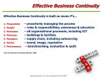 effective business continuity