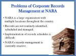 problems of corporate records management at nara