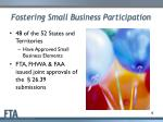 fostering small business participation1