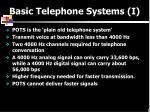 basic telephone systems i