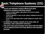 basic telephone systems iii