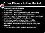 other players in the market