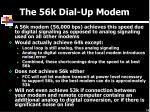 the 56k dial up modem