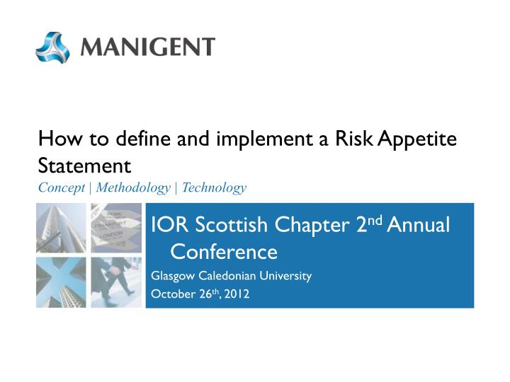 how to define and implement a risk appetite statement concept methodology technology n.