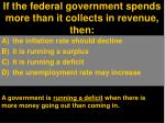 if the federal government spends more than it collects in revenue then