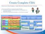 create complete cda