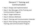 element 7 training and communication