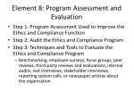 element 8 program assessment and evaluation