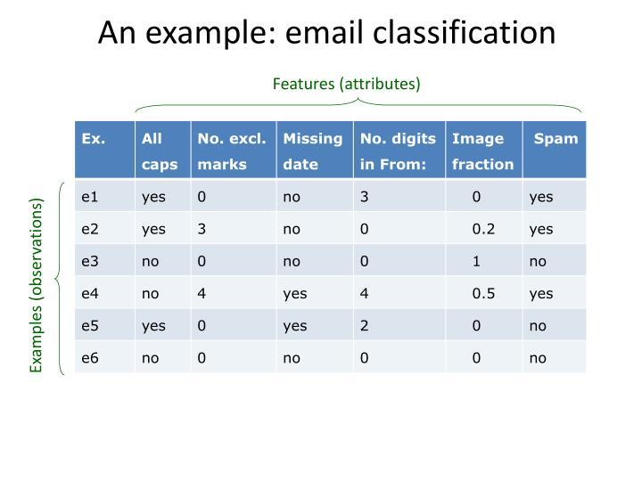 Features (attributes)