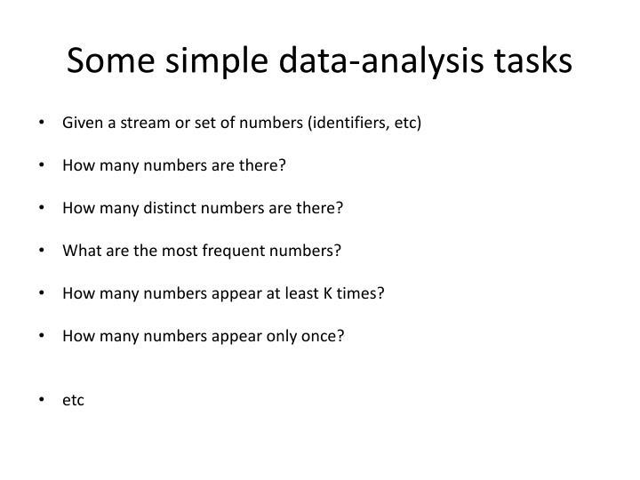 Some simple data-analysis tasks
