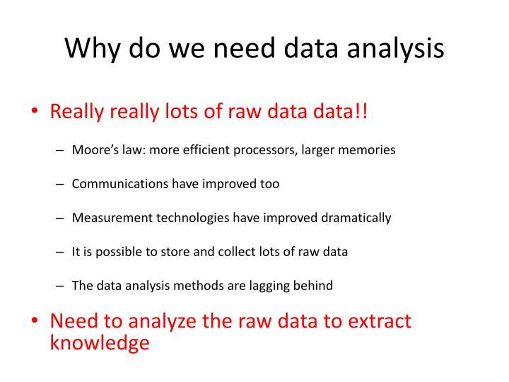 Why do we need data analysis