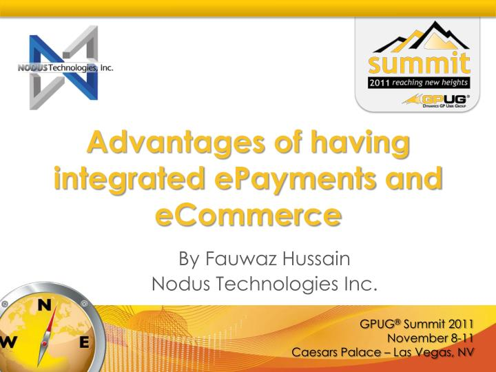advantages of having integrated epayments and ecommerce n.