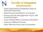 benefits of integrated ecommerce
