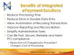 benefits of integrated epayment solutions