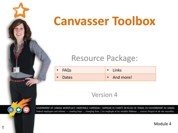 canvasser toolbox n.