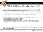 faq what do united ways centraides do