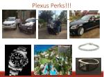plexus perks