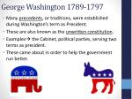 george washington 1789 1797