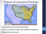 impact of louisiana purchase