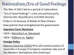 nationalism era of good feelings