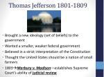 thomas jefferson 1801 1809