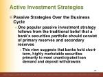active investment strategies11