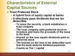 characteristics of external capital sources5