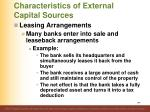 characteristics of external capital sources7