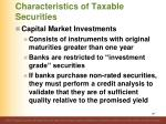 characteristics of taxable securities11