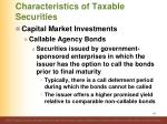 characteristics of taxable securities21