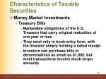 characteristics of taxable securities3