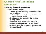 characteristics of taxable securities9