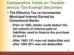comparative yields on taxable versus tax exempt securities13